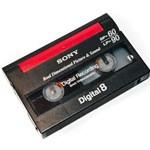 Afbeelding van een Digital 8 tape